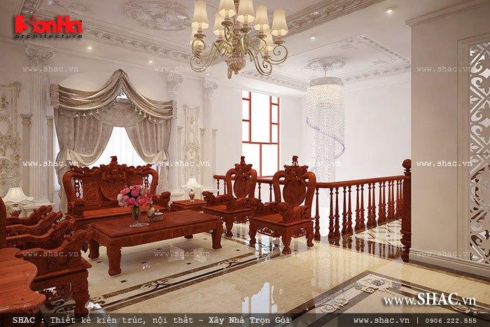Mẫu thiết kế biệt thự với nội thất mang phong cách Pháp - SH BTP 0079 5