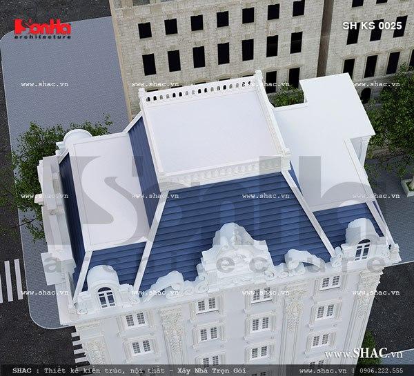 Tầng mái của tòa nhà