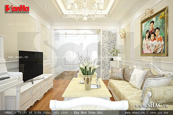 Phòng khách đẹp cho nhà phố