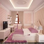 Phòng ngủ đẹp cho con gái sh btp 0079