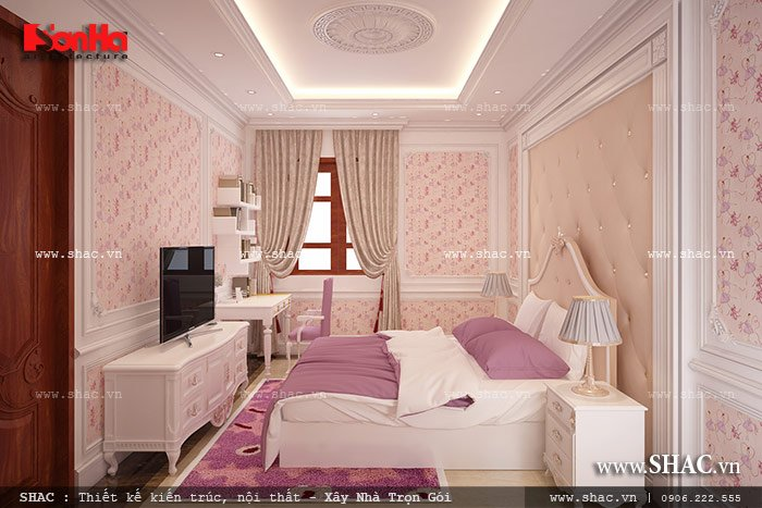 Mẫu thiết kế biệt thự với nội thất mang phong cách Pháp - SH BTP 0079 9