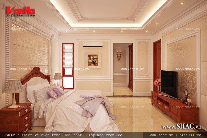 Mẫu thiết kế biệt thự với nội thất mang phong cách Pháp - SH BTP 0079 11