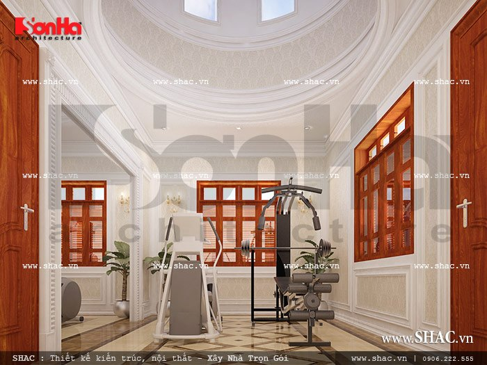 Mẫu thiết kế biệt thự với nội thất mang phong cách Pháp - SH BTP 0079 13