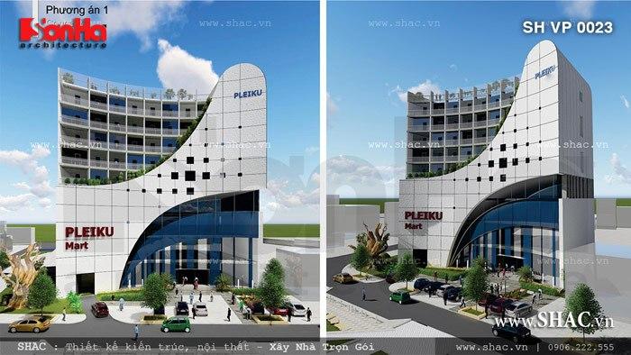 Phương án 1 của tòa nhà Pleiku sh vp 0023