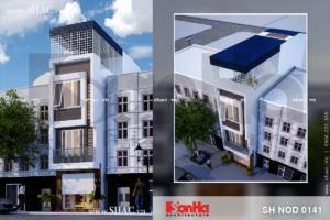 Phương án thiết kế nhà phố có mặt tiền nhỏ sh-nod-0141
