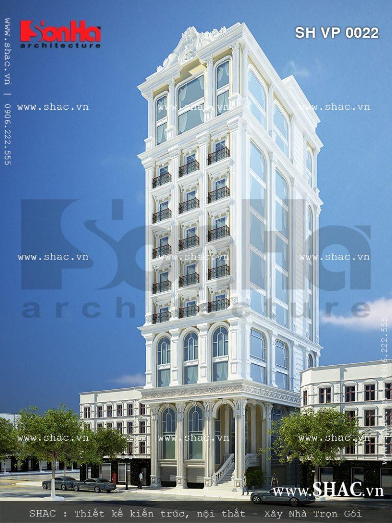 Phương án thiết kế tòa nhà văn phòng sang trọng sh vp 0022