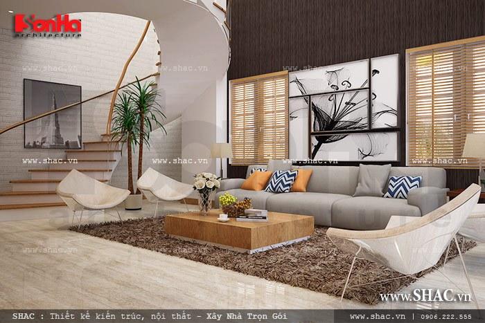 Thiết kế phòng khách đẹp cho căn hộ chung cư sh ks 0025