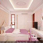 Thiết kế phòng ngủ đậm sắc hồng sh btp 0079