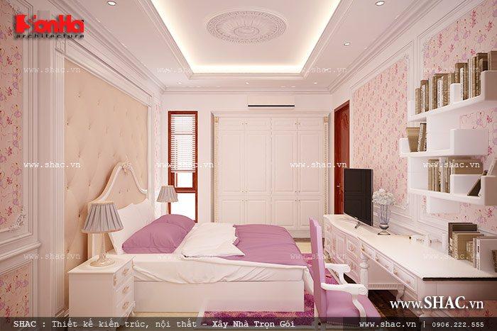 Phòng ngủ đậm sắc hồng