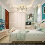 Thiết kế phòng ngủ đẹp và trẻ trung sh btp 0079