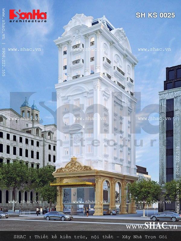 Thiết kế tòa nhà văn phòng đẹp sh ks 0025
