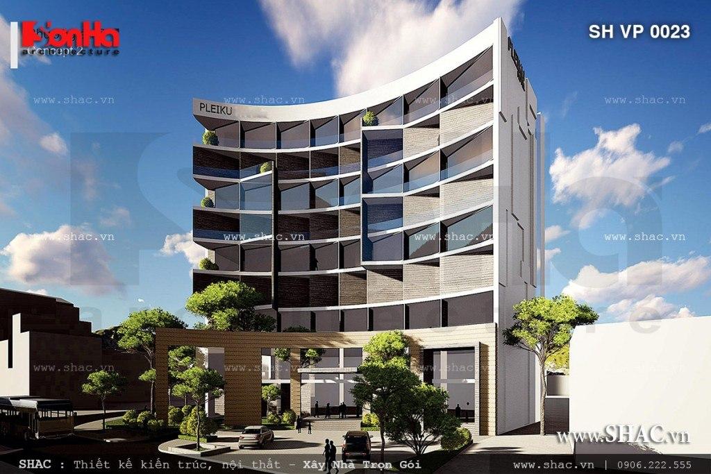 Thiết kế tòa nahf văn phòng sang trọng tại Pleiku sh vp 0023