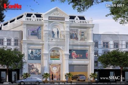 Thiết kế trung tâm thương mại 3 tầng sh sr 0017
