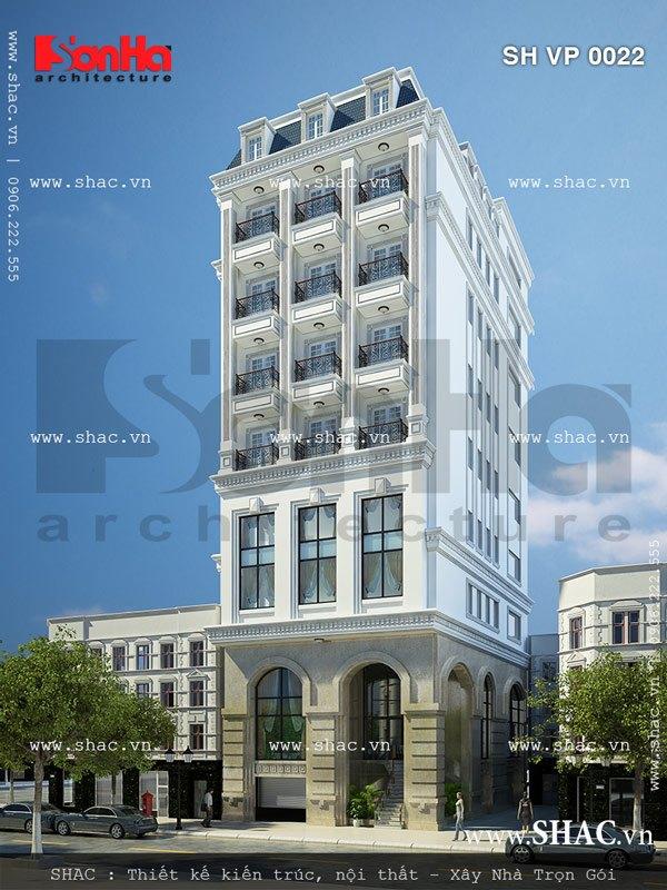 Tòa nhà văn phòng 12 tầng sh vp 0022