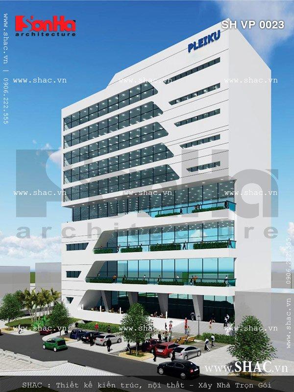 Tòa nhà văn phòng có thiết kế đẹp sh vp 0023