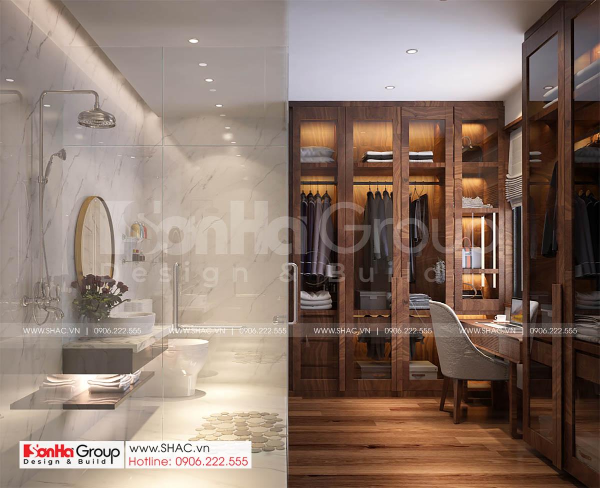 WC và phòng thay đồ maser nhà phố 4 tầng 1 tum Vinhomes Marina Hải Phòng