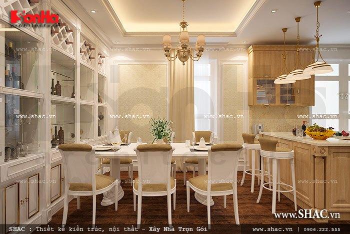 Không gian bếp ăn phong cách pháp đẹp a kiên vincom hp