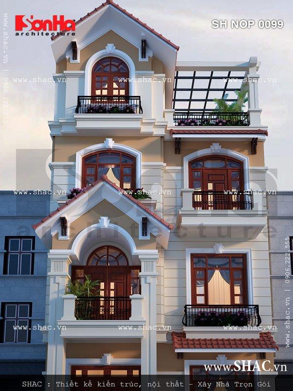 Nhà phố có thiết kế kiến trúc đẹp sh nop 0099