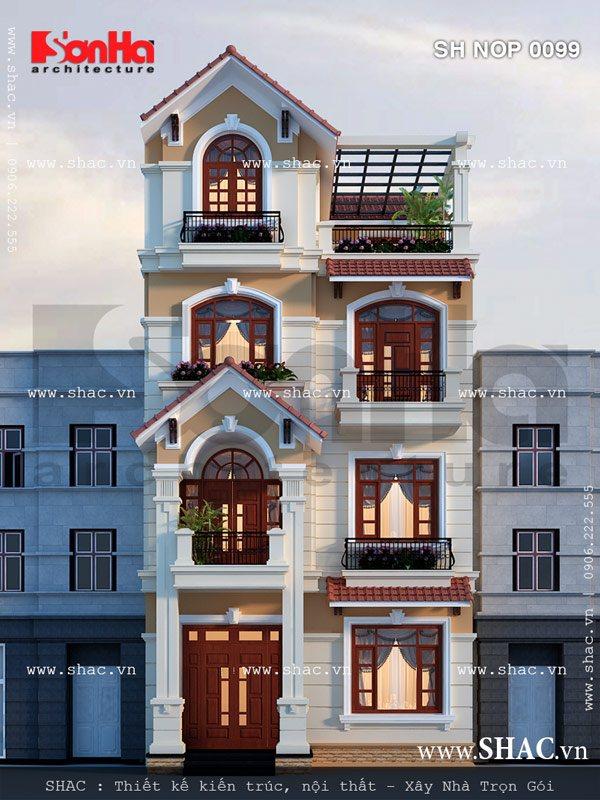 Nhà phố mang phong cách kiến trúc châu âu đẹp sh nop 0099