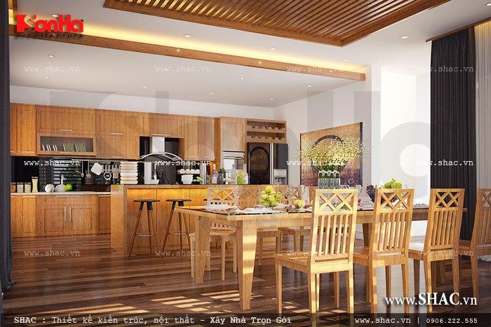 Nội thất tủ bếp được thiết kế theo phong cách đơn giản sh btd 0040