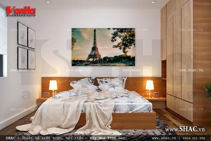 Thiết kế phòng ngủ tiêu chí đơn giản mà đẹp và tiện nghi theo xu hướng thiết kế nội thất biệt thự hiện đại hiện nay được khá nhiều chủ đầu tư ưa chuộng