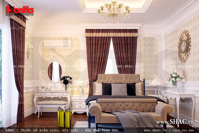 Phòng ngủ phong cách cổ điển đẹp a kiên vincom hp
