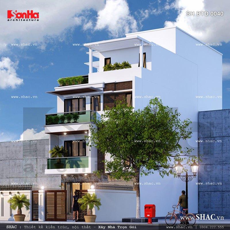 Phương án thiết kế biệt thự hiện đại đẹp sh btd 0040