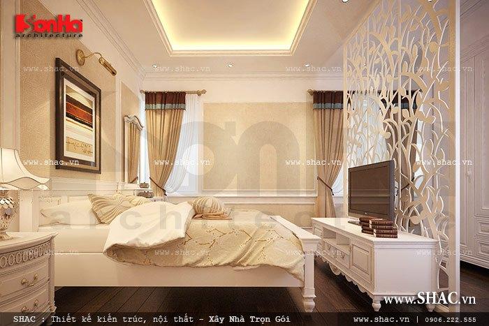 Thiết kế phòng ngủ kiểu pháp nhẹ nhàng a kiên vincom hp
