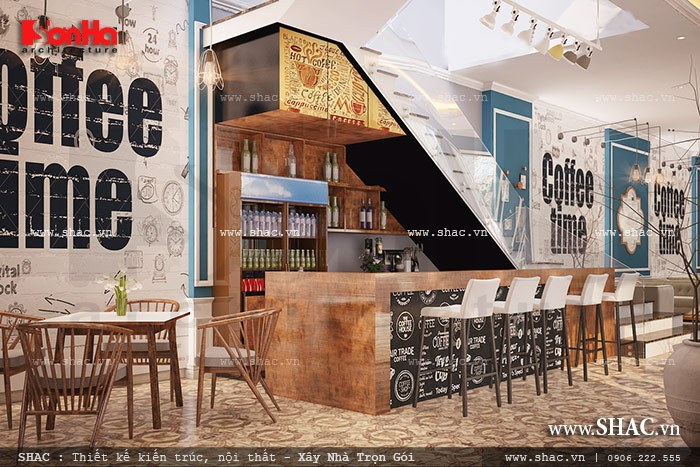 Thiết kế quầy bar của quán cafe đẹp sh bck 0037