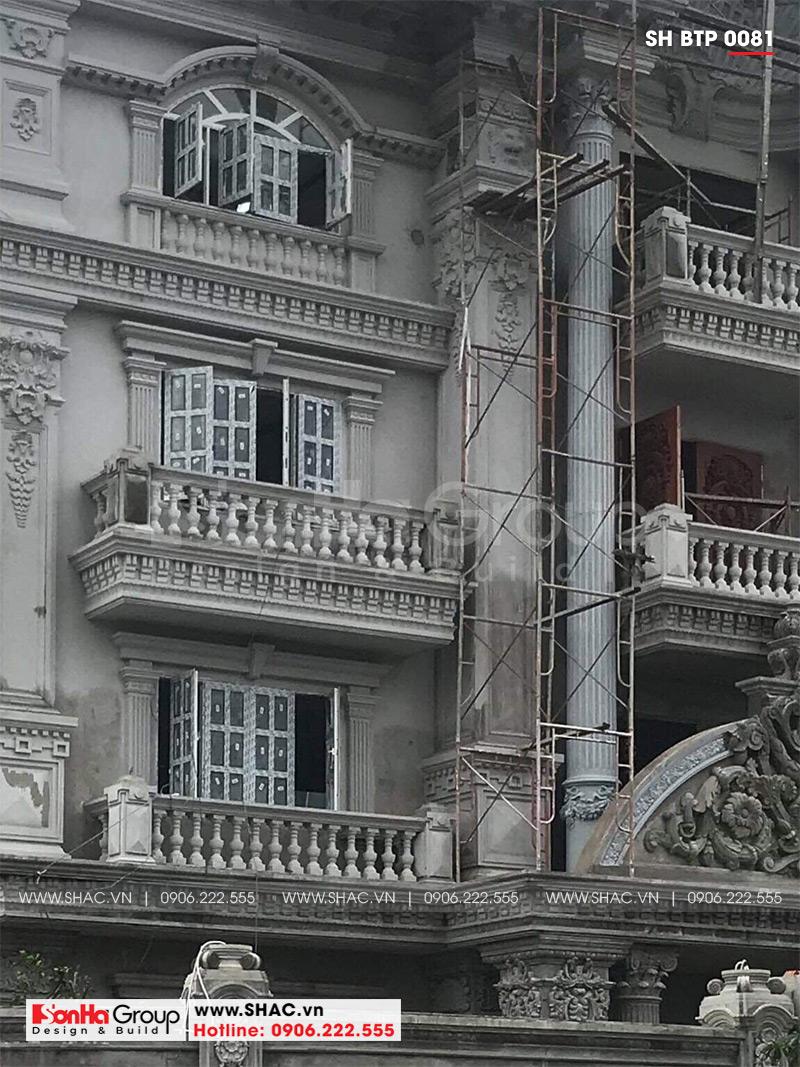 Biệt thự 4 tầng kiến trúc Pháp cổ điển sang trọng – SH BTP 0081 22