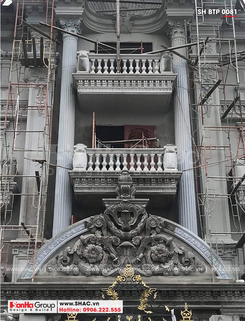Biệt thự 4 tầng kiến trúc Pháp cổ điển sang trọng – SH BTP 0081 21