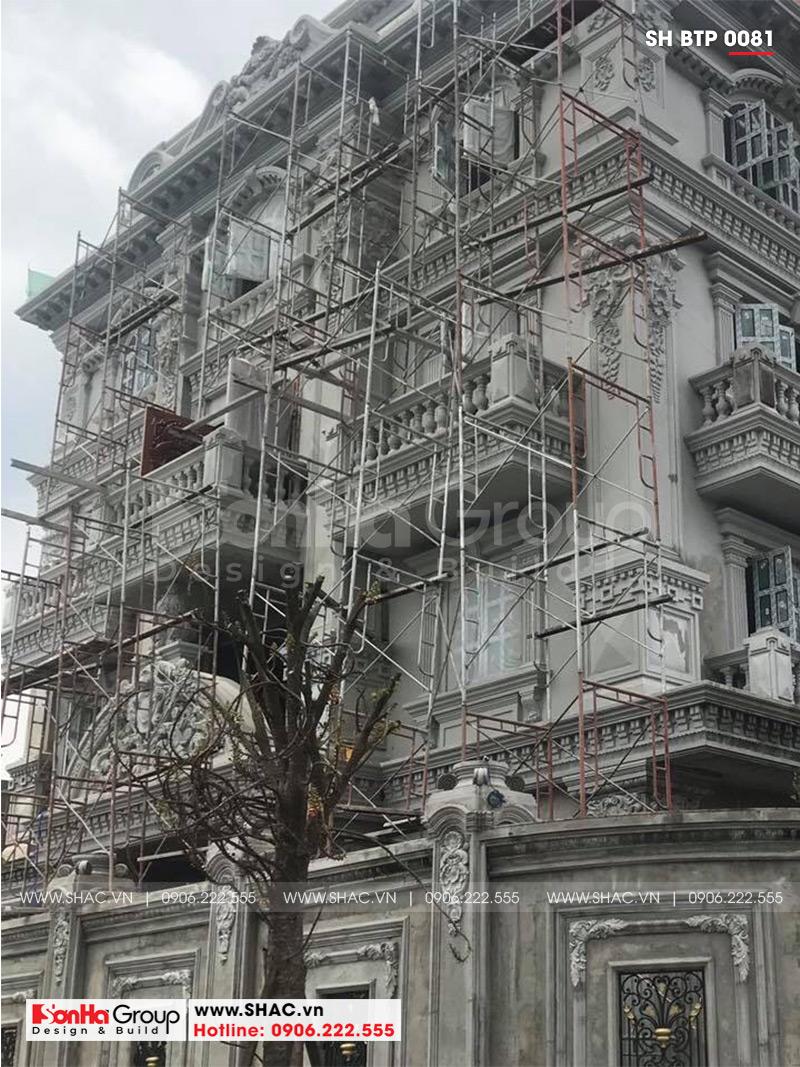 Biệt thự 4 tầng kiến trúc Pháp cổ điển sang trọng – SH BTP 0081 19