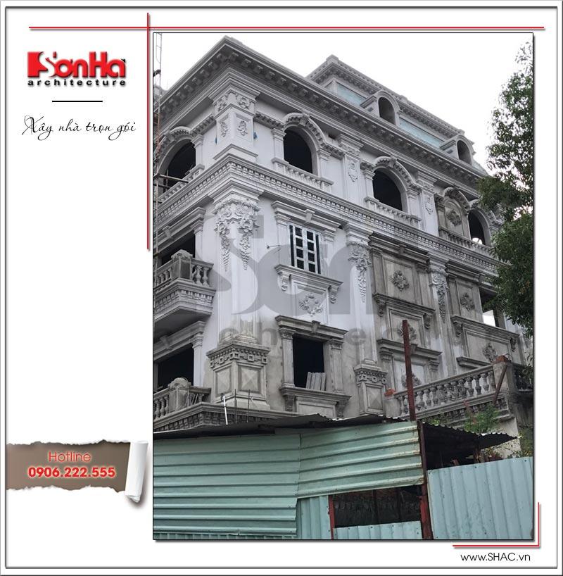 Biệt thự 4 tầng kiến trúc Pháp cổ điển sang trọng – SH BTP 0081 25