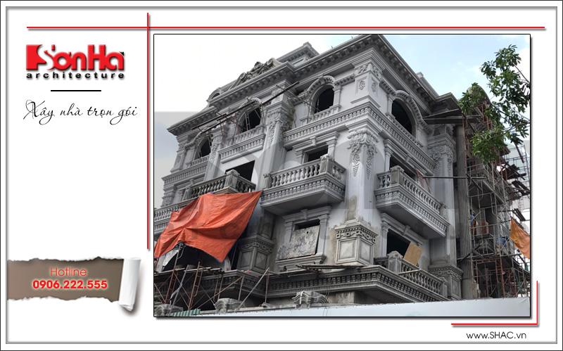 Biệt thự 4 tầng kiến trúc Pháp cổ điển sang trọng – SH BTP 0081 24