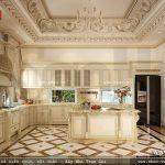 Bộ tủ bếp được thiết kế theo phong cách pháp sh btp 0081