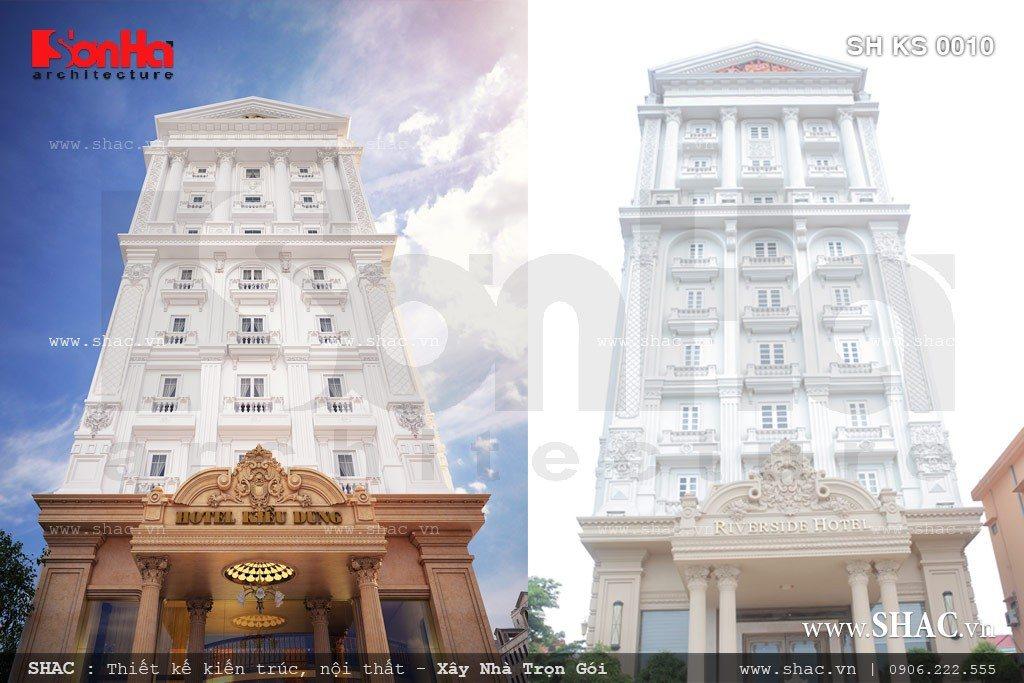 Phối cảnh 3d và thực tết sau khi thi công của khách sạn sh ks 0010