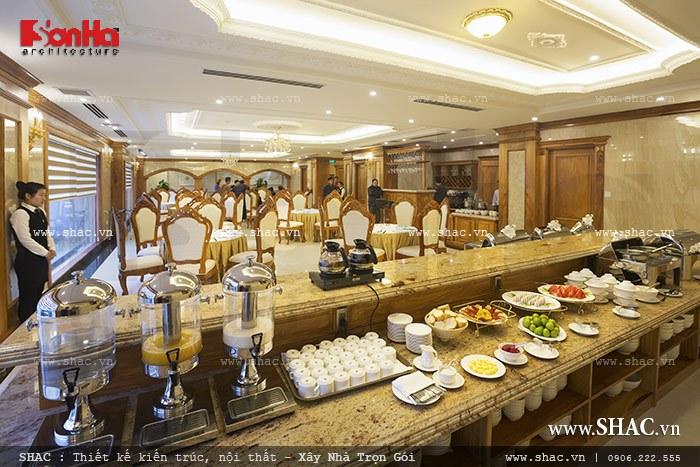 Phòng ăn sang trọng của khách sạn sh ks 0010