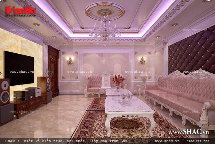 Mẫu phòng hát karaoke có thiết kế nội thất sang trọng là không gian thư giãn thoải mái của các thành viên trong gia đình