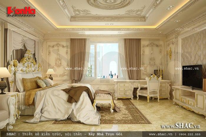 Mẫu phòng ngủ lãng mạn phong cách Pháp cổ điển kết hợp màu sắc tinh tế và đẹp mắt