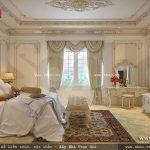 Phòng ngủ phong cách pháp của biệt thự sh btp 0081