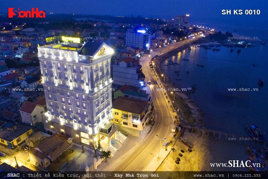 Toàn cảnh của khách sạn The Riverside khi nhìn từ trên cao sh ks 0010