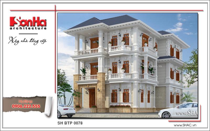 Thiết kế công trình biệt thự Pháp BTP 0078