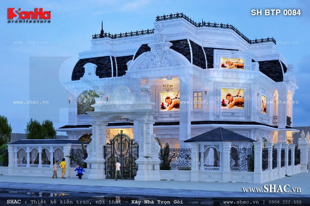 Phương án thiết kế trung tâm spa 5 tầng tại Đà Nẵng có kiến trúc cổ điển Pháp sang trọng đẳng cấp