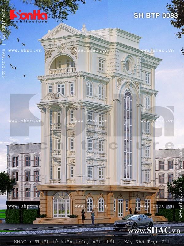 Mẫu thiết kế biệt thự kiến trúc Pháp 6 tầng đẹp tại Đồng Nai chinh phục mọi ánh nhìn người qua đường