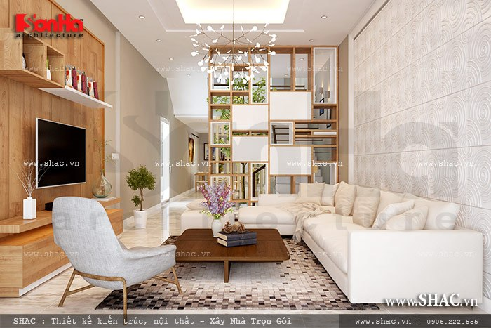 Không gian phòng khách hiện đại đẹp sh nod 0147