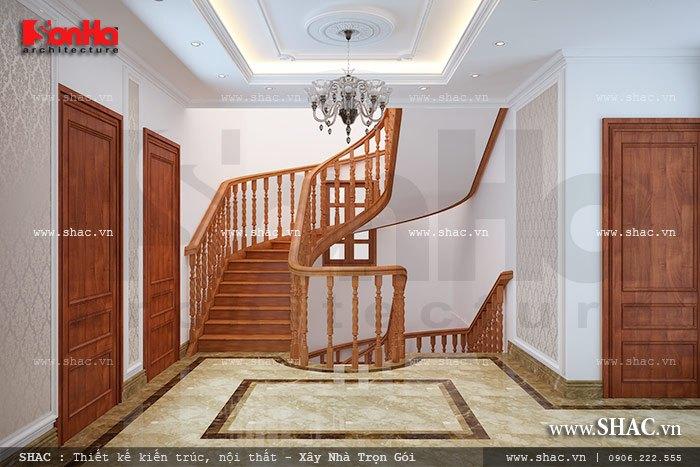 Khu vực cầu thang của biệt thự sh btp 0078