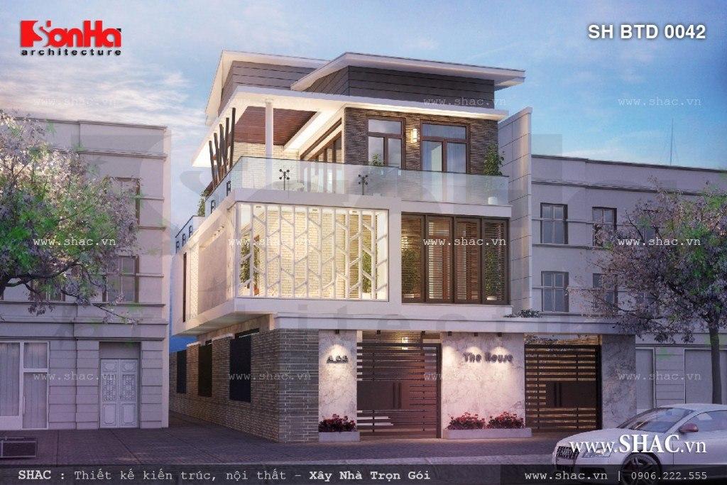 Biệt thự 3 tầng phong cách kiến trúc hiện đại sh btd 0042