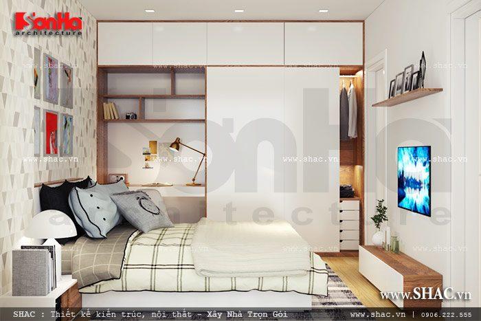 Mẫu phòng ngủ đẹp của nhà phố sh nop 0103
