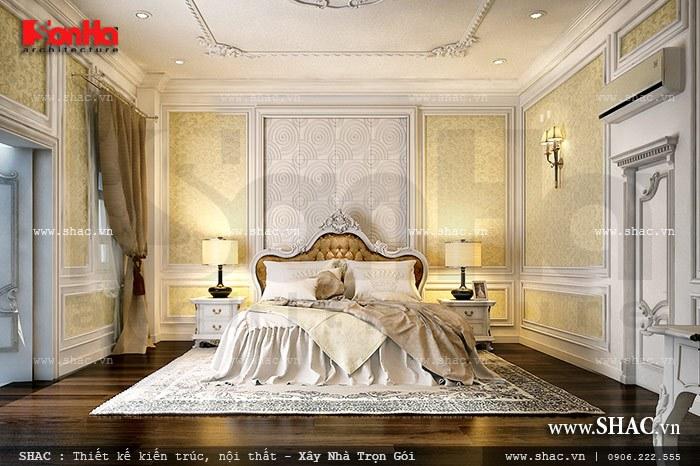 Mẫu phòng ngủ kiểu Pháp sang trọng đầy đủ tiện nghi mang tới không gian nghỉ dưỡng lý tưởng