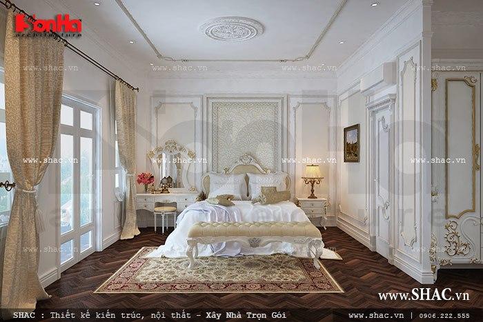 Thêm một phương án thiết kế phòng ngủ kiểu pháp nhẹ nhàng tinh tế cho ngôi biệt thư